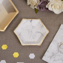 Scripted Marble Small Paper Plates (8)